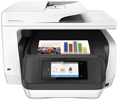 HP OfficeJet Pro 8720 Multifunktionsdrucker (A4, Drucker, Scanner, Kopierer, Fax, WLAN, LAN, NFC, Duplex, Instant Ink kompatibel, HP ePrint, Airprint, Cloud Print, USB, 4800 x 1200 dpi) weiß