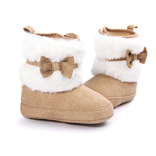 Fire Frog  Snow Boots,  Baby Mädchen Schneestiefel Braun