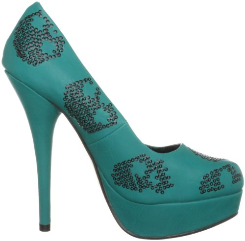 Iron Fist Sugar Hiccup, Damen Pumps Grün (Teal)