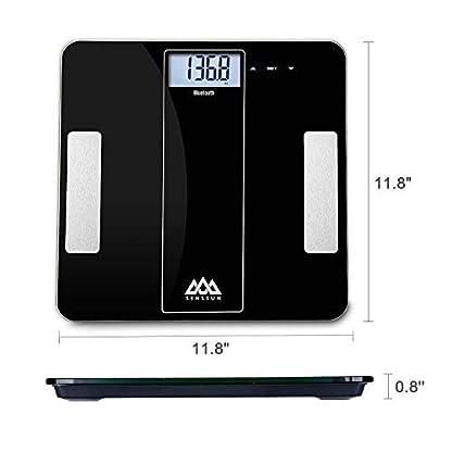 41EyVdUDEFL. SS416  - SENSSUN Bluetooth Medidor Inteligente de Masa Corporal, Báscula Digital de Baño, BMI Báscula de Peso, Analizador de composición de Cuerpo con IOS y Android APP(Negro)
