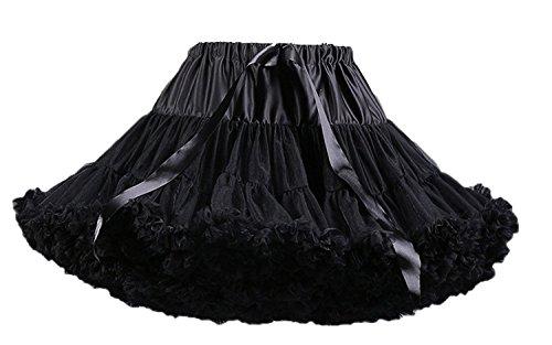 xuriöse weiche Chiffon Petticoat Tüll Tutu Rock Damen Tutu Kostüm Petticoat Ballett Tanz Rock ()