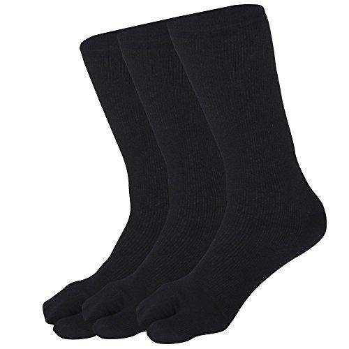 Frauen freie Größe feste Daumen Kalb Länge weicher Baumwolle Stretch Spandex Socken Pack 3 paar (Spandex-stretch-zehen-socken)