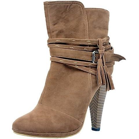 Donna stivali Autunno / Inverno stivali moda similpelle Party & Sera / Casual Stiletto Heel fibbia mandorla altri,mandorla,US11,5 / EU43 / UK9.5 / CN45