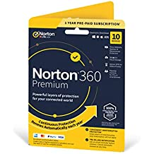 Norton 360 Premium 2020, Antivirus software for 10 Devices and 1-year subscription with automatic renewal, Includes Secure VPN and Password Manager, PC/Mac/iOS/Android, Activation Code by Post