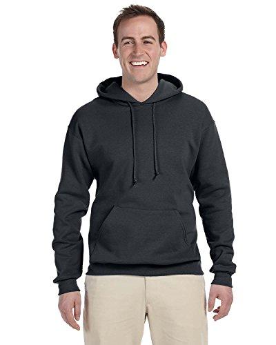 Jerzees-baumwolle-pullover (Adult 8 oz. NuBlend� Fleece Pullover Hood CHARCOAL GREY 2XL)