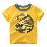 Cuteelf Jungen Kurzarm Badeshirt Kinder LSF51+ Sonnenschutz Schwimmshirt Kinder Rashguard Schnelltrocknendes