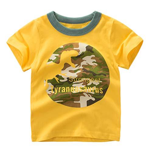 Cuteelf Kinder Kurzarm Kleinkind Kinder Baby Boy Brief Print T-Shirt Tops Shirts Kleidung Sommer Vielzahl Print Styles zur Auswahl Cute Naughty Sports Casual T-Shirt -