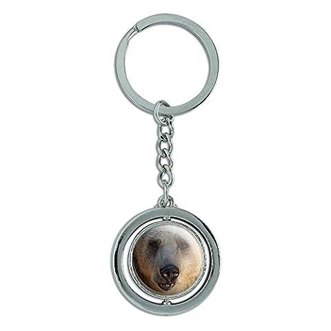 Bär Spinning rund Metall Schlüsselanhänger Schlüsselanhänger Ring