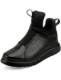 Men's Leder Freizeit Sehnen Schuhe/Kleid/Herbst/Business/Stiefel/Mode/Rutschen/Schwarzbraun