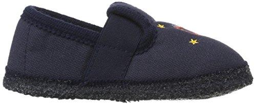 HAFLINGER Slipper Space Schuhe Kinder Hausschuhe Pantoletten Blau 629167 0 76 Blau (Ocean)