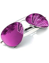 MFAZ Morefaz Ltd Espejo gafas de sol para niños Lente polarizada Boy Girl Estilo clásico para niños y niñas 100% UV400
