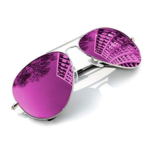 Occhiali da sole Specchio Per bambini stile Classic Bambini e Bambine 100%UV400 MFAZ Morefaz Ltd (Purple Mirrored)