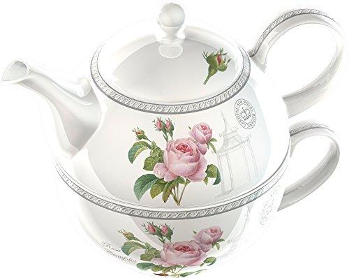 Creative Tops Royal Botanic Gardens Kew Redoute Classic Fine China Porzellan-Teekanne und Tassen-Set, mehrfarbig Garden Teekanne