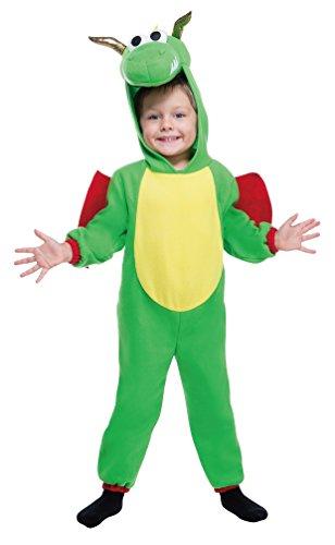 Karneval-Klamotten Kostüm Drache grün Fleece Baby Karneval Tier Kinderkostüm Größe 98 (Drache Themen Kostüme)