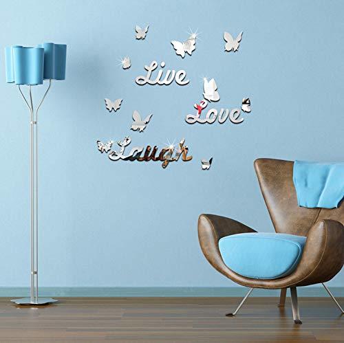 Miroir stéréoscopique anglais de collage de miroir de papillon vivant d'amour de rire