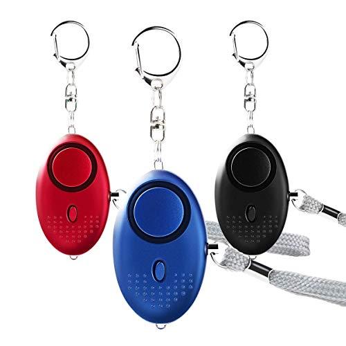 Personal Alarm, 22PCS 140dB Police Zugelassen Schlüsselanhänger mit LED Taschenlampe Licht Sicherheit Sicherheit Alarm Geräte für Frauen/Kinder/Senioren/Nacht Worker und Explorer