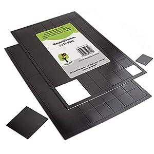OfficeTree ® 110 Magnetplättchen - 20 x 20 mm - selbstklebend für sichere Magnetisierung von Plakaten Fotos Papier - extra starke Haftkraft an Whiteboard Magnet-Tafel Pinnwand - schwarz
