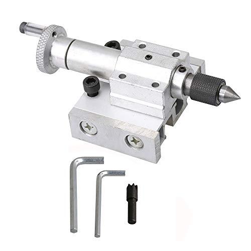 CNBTR Mini tornio parziale di ricambio regolabile in metallo argentato, accessorio per la lavorazione del legno fai da te