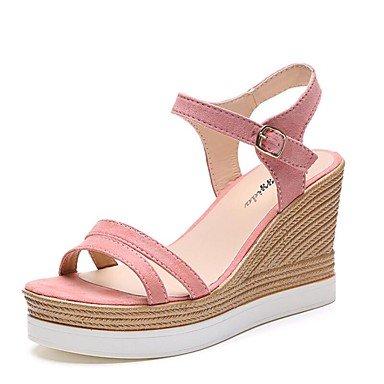 zhENfu Donna Sandali Primavera Estate Autunno Club di calzature in pelle scamosciata Ufficio Outdoor & Carriera Casual Cuneo camminata tallone Pl Blushing Pink