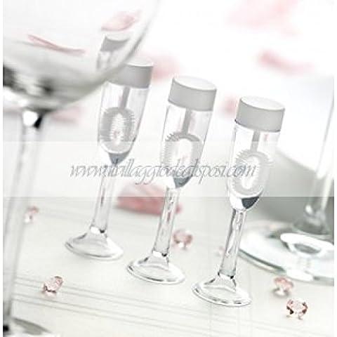 24 bolle di sapone forma calici di champagne