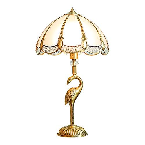 ANDEa Lampe de Table en Cuivre, Lampe de Table Art Moderne Lampe de Table Moderne Lampe de Chevet Villa Lampe de Mariage Salle Elégante Lampe de Table E27 Originalité (taille : 35 * 61cm)