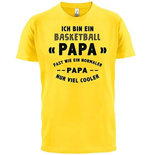 Ich bin ein Basketball Papa - Herren T-Shirt - 13 Farben Gelb