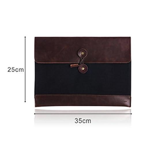 Gossipboy vintage Portable cartellina in pelle PU tasca portadocumenti, lavoro, borsetta organizer, borsa ventiquattrore.