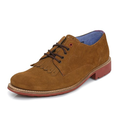 Ted Baker Tich Dark Tan Derby Scarpe-UK 7