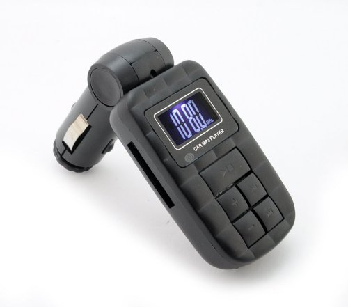 Incutex Universal KFZ Auto FM Transmitter Modulator MP3-Player mit 12 V Zigarettenanzünder + Fernbedienung - Ipod Shuffle Fm Transmitter
