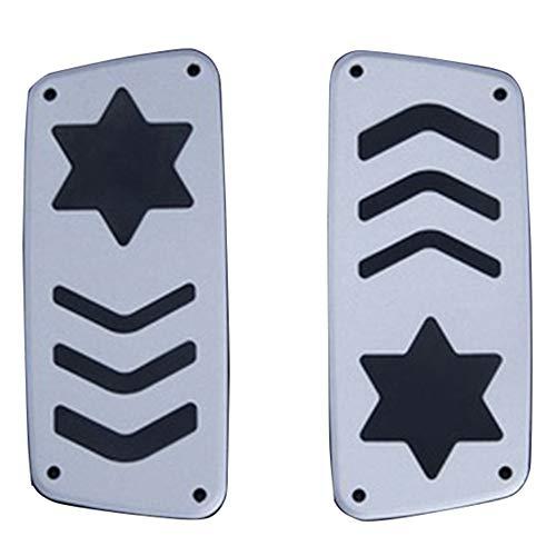 SODIAL 2 Stücke Kart Pedal Ge?ndert Zubeh?r Anti-Skid Gas Brems Pedal Aluminium Pedal Kart Pedal Fu? Pedal Drehzahl Regelung Umwandlung Kit - Gas-karts