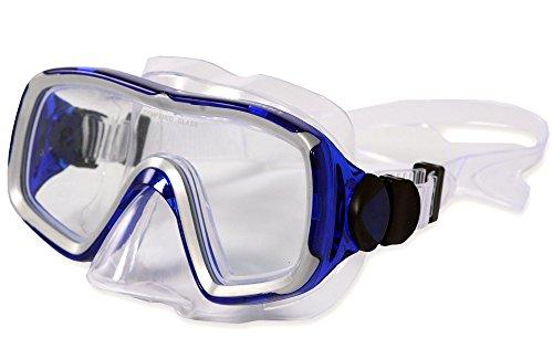Aquazon Taucherbrille Nizza für Erwachsene, Blau Transparent, Senior, AQMANIBL