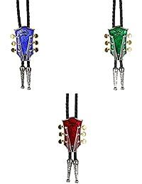 MagiDeal 3 Piezas Collar de Lazo de Guitarra Música Vaquero de Rodeo Bolo Lazo de Boleadoras