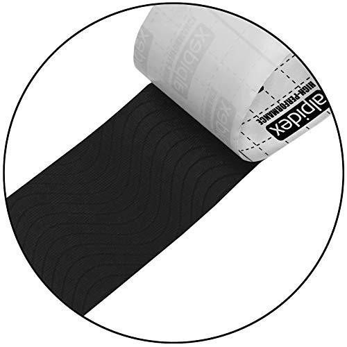 12 Rollen Kinesiologie Tape 5 m x 5,0 cm in verschiedenen Farben, Farbe:schwarz - 5