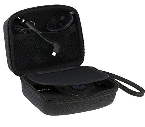 Navitech Auto Dash Cam/Kamera Tragetasche/Tasche für die APEMAN C660 (Case passt auch mit Windschutzscheibenhalterung + Kfz-Ladegerät)