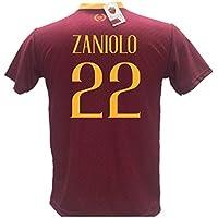 Maglia Calcio Zaniolo 22 Roma Replica Autorizzata 2018-2019 Bambino (Taglie 2 4 6 8 10 12) Adulto (S M L XL) (L (Adulto))