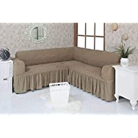 Corner sofa cover attached sofa cover 6 meters