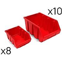 Stanley Lagersichtkasten schlagfestes Polypropen ineinander schiebbar mit Etikettenhafter 1-92-716 30.8x42.9x17.8 cm