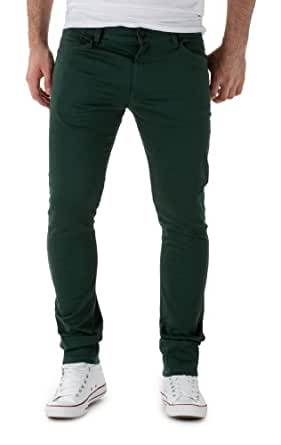 55DSL Herren Chinos PYRONS TROUSERS, Dark Green, W30