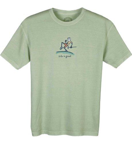 Life is Good Herren Pumpe Putt Short Sleeve Tee, Herren, Plymouth (Shirt Short Jake Sleeve)