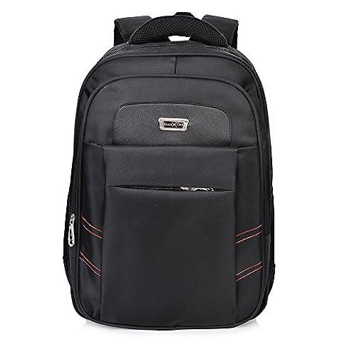 Vbiger Laptop Backpack Business Computer Bag for Men up to 17 inches Black (Black 2)