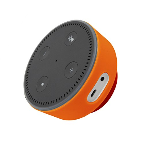 MagiDeal Protective Case Wall Mount Stand Holder for Amazon Echo Dot 2nd Generation Orange