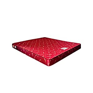 Coirfit Twin 5-inch King Size Memory Foam Mattress (Red, 84x72x5)