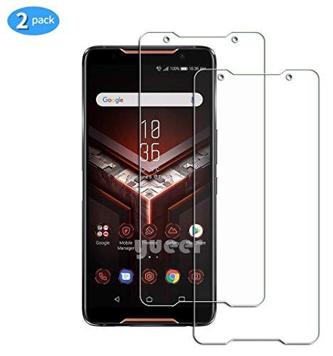 yueer Panzerglas Schutzfolie für Asus ROG Phone/ZS600KL,[Anti- Kratzer] [Ultra Clear] Panzerglasfolie Bildschirmschutzfolie Folie für Asus ROG Phone/ZS600KL.