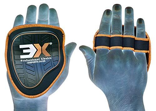 cht Lifting Grips Gym und Training Straps Handschuhe Hand Palm Support eine Größe Alle Fit Colour (schwarz/orange) ()
