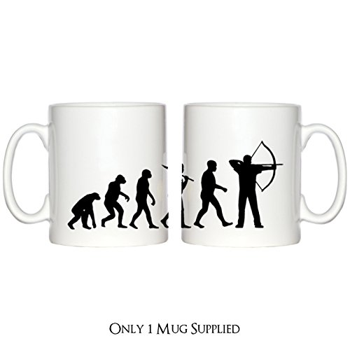 Evolution of Bogenschießen Design Tasse -