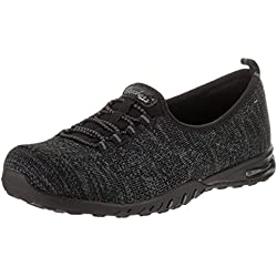 Skechers Relaxed Fit Air Easy nei miei sogni Womens Slip On Sneakers Nero