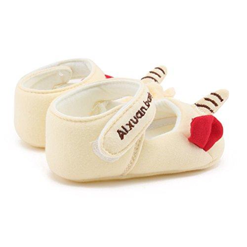 MiyaSudy Chaussures Enfant Bébés Filles Garçons Princesse Coton Cartoon Semelles Douces Plates Crib Shoes Éléphant jaune