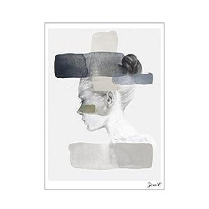 Tangbasi® Nordic Abstrakte Gemälde, Moderne Wandkunst, Leinwand, Wandgemälde für Heimdekoration, Canvas, bunt, 21x30cm