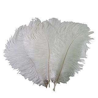 Butterme 20pcs réel naturelles plumes d'autruche grandes plumes pour les chapeaux, maison, mariage, fête décoration, 15-20cm