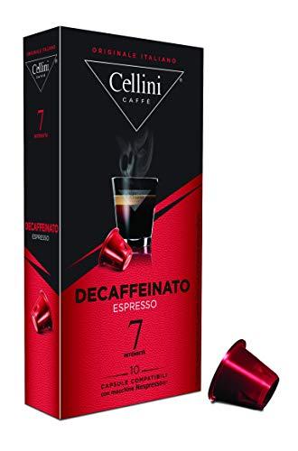 Cellini Espresso Decaffeinato 10 Kapseln, 5er Pack (5 x 50 g)